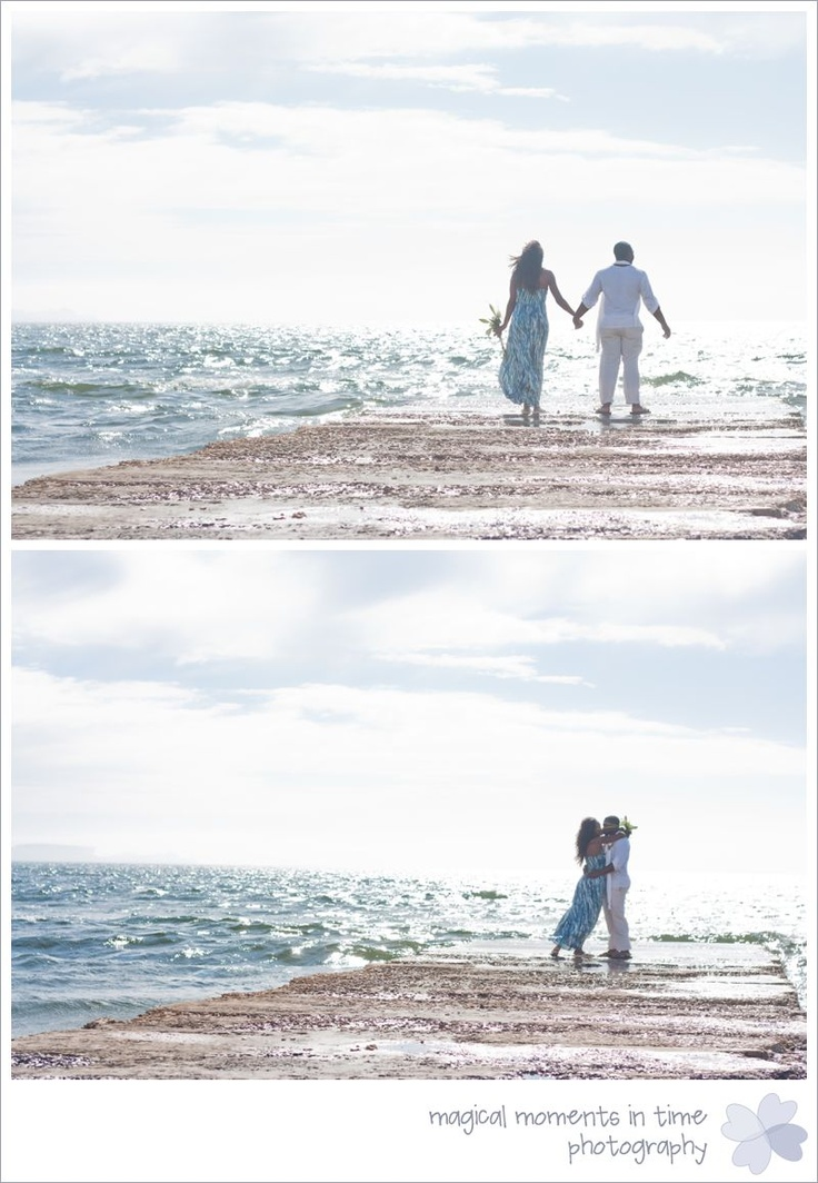 milnerton beach - couple on pier Magical Moments in Time Photography