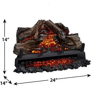 Napoleon Woodland 24-Inch Electric Fireplace Insert/Log Set - NEFI24H