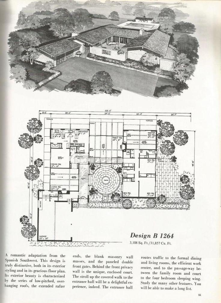 Planos de casas vintage: casas de estilo espanhol |   – House plans