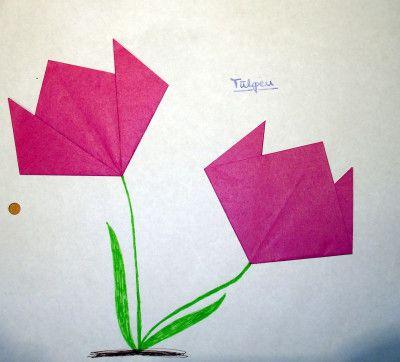 25+ einzigartige Blumen falten Ideen auf Pinterest Blumen aus - blumen basteln