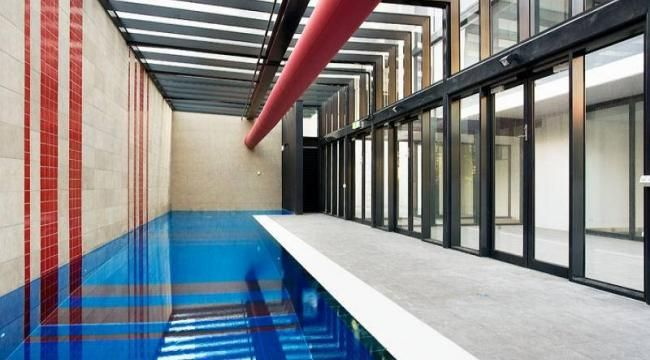 Commercial and industrial fabric hvac ductwork photos ductsox swimming pools pinterest for Indoor swimming pool in jakarta