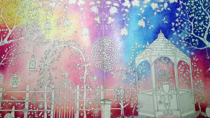 SECRET GARDEN   Johanna Basford - Part 1 - coloring a Background