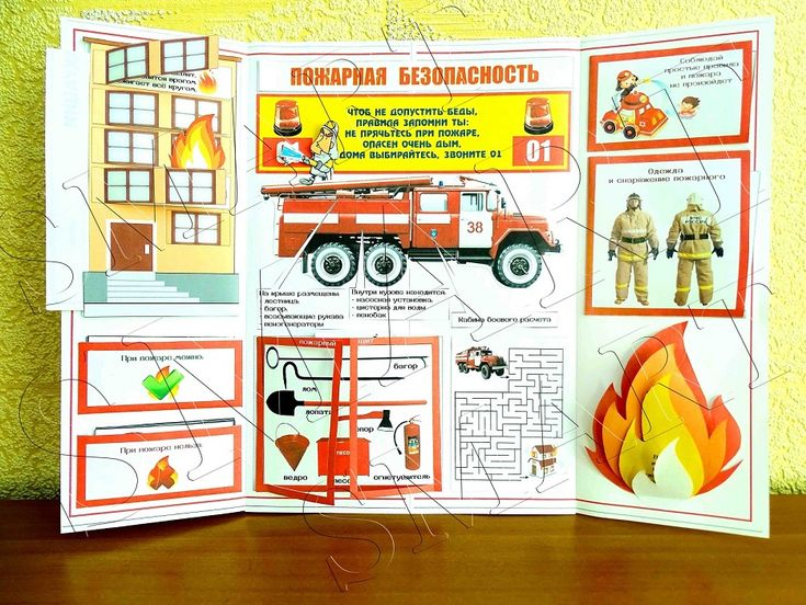 Лэпбук Пожарная безопасность | смарт конкурс вебинар педагог воспитатель наглядность лэпбук логопед