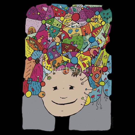 All in my head - cool variations of dreams   great t shirt on RB