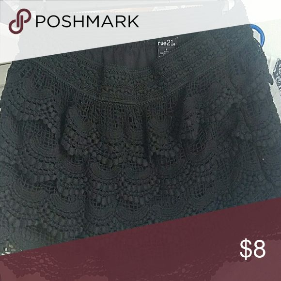 ACCEPTING ANY OFFER Crochet shorts Black crochet shorts size L but fit S/M  Make an offer Rue 21 Shorts