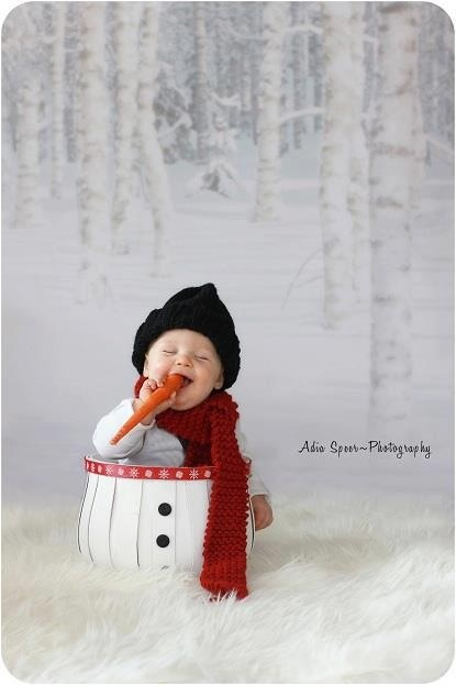 Christmas mini photo session idea / snowman / holiday card idea / Baby / Family