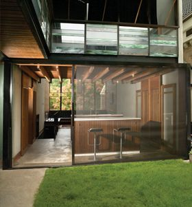 James Russell's own home. Indoor outdoor living. Thank you Chantal!