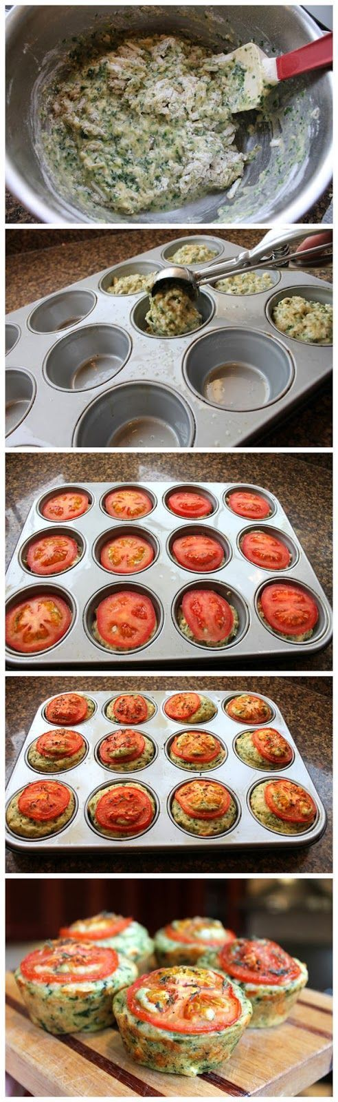 Cheesy Spinach Muffins -- Healthy, Simple Snack