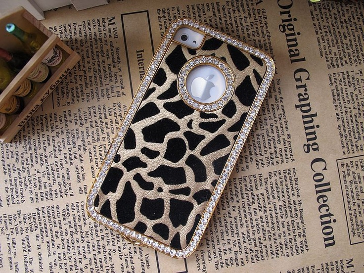 iPhone Case , iPhone 4 Case , iPhone 4s Case , Swarovski Crystal Rhinestone Studded Bling Leopard iPhone Hard Case Cover. $10.99, via Etsy.