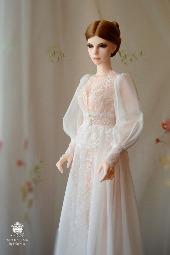 Delicate lace lingerie for SD dolls. You can order any size Sd doll.  The the dress is sewed from a grid stretch with lace, In a set shorts.