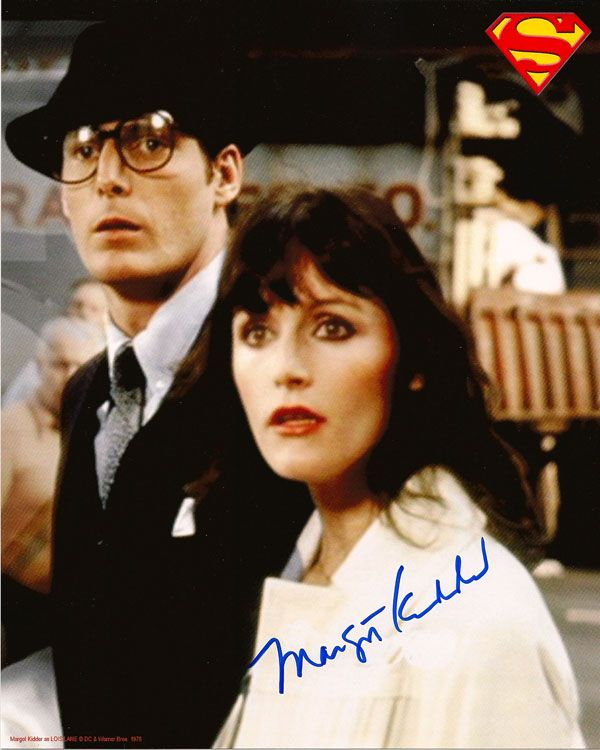 MARGOT KIDDER LOIS LANE AND CLARK KENT REPORTERS SIGNED PHOTO