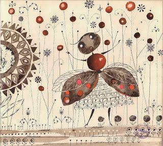 Another illustration from Zuk (Beetle), by Ewa Salamon