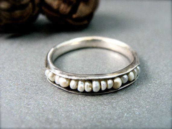 Mar de Salish... anillo perla pila