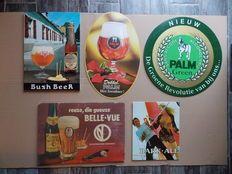 Bier: Bush, Dobbel Palm , Bark - Ale, Palm Green, Belle - Vue Gueuze .