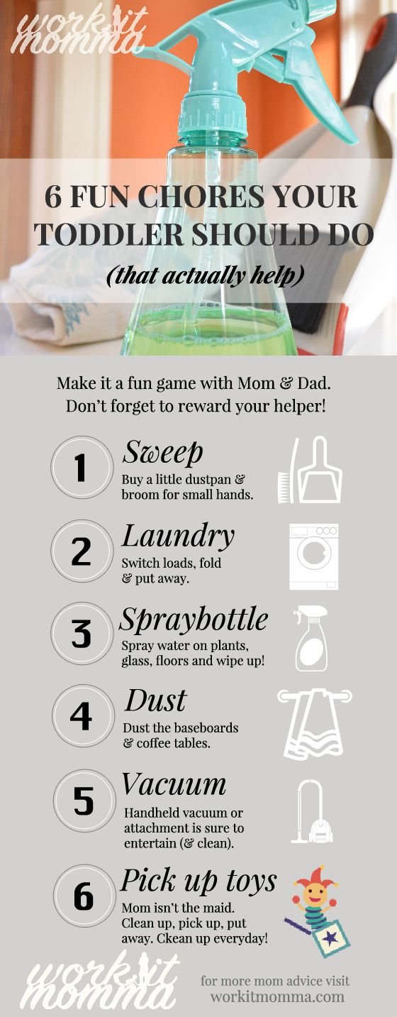 6 Fun Chores Your Toddler Should Do - make cleaning fun and show your toddler that they can be a help to Mom and Dad.