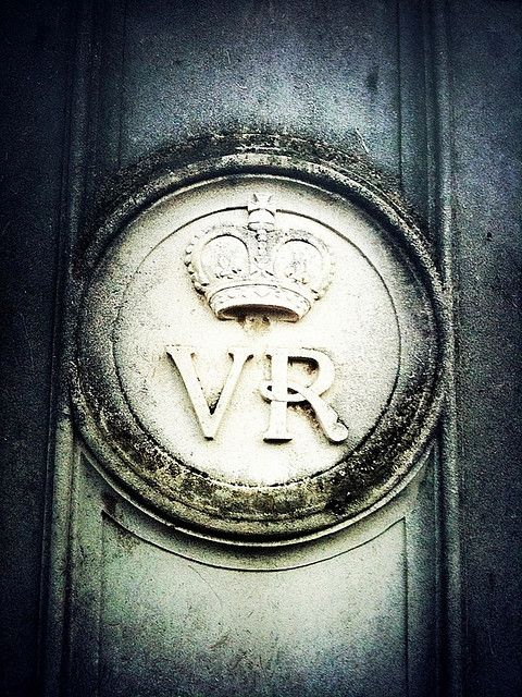 Victoria Regina shield.