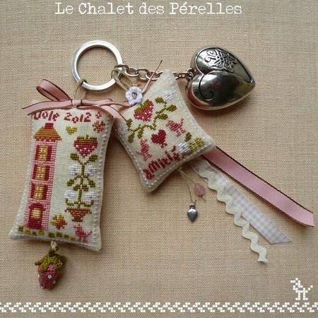 pincushions embroidered keychain