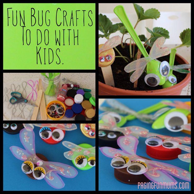 Fun & Easy Bottle Cap Bug Craft - (Louise) - Paging Fun Mums