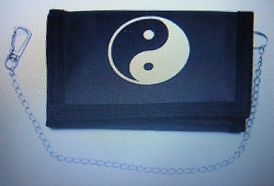 "Black and White Ying Yang Symbol Wallet Unisex Men's 4.5"" x 3"" W-New in Package"