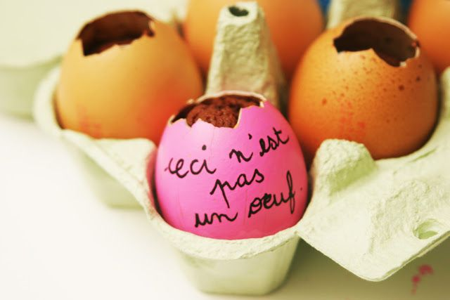 DIS MAMAN, ON MANGE QUOI ?: Idée pour Pâques n°11 : des gâteaux cachés dans le...
