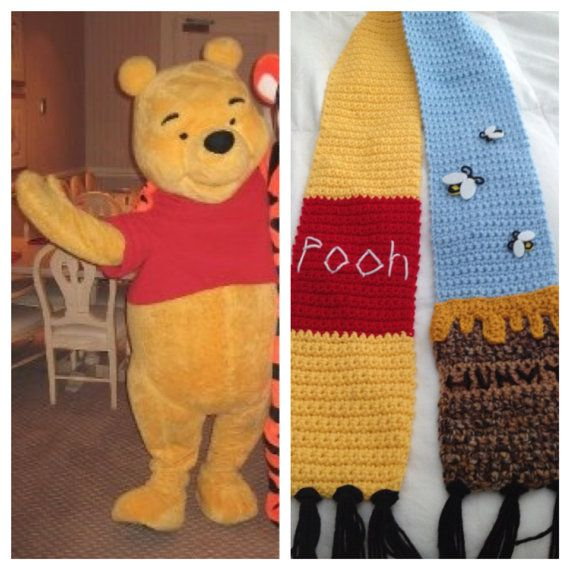Winnie the Pooh Hunny Pot Scarf by CrafTCreation13 on Etsy