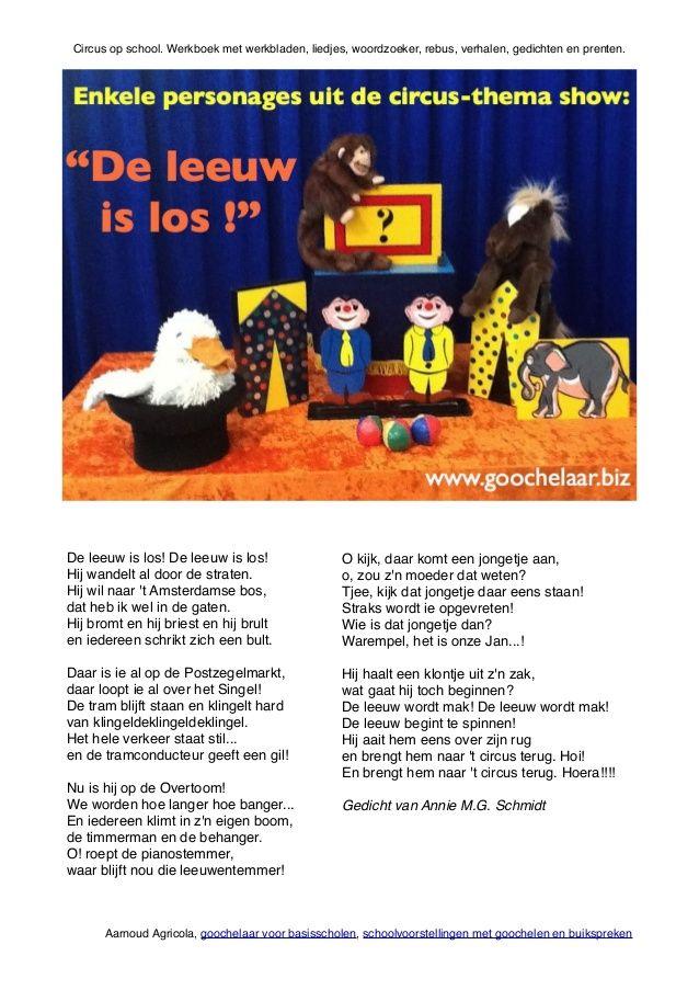 Circus op school werkboek van basisschool goochelaar aarnoud agricola…