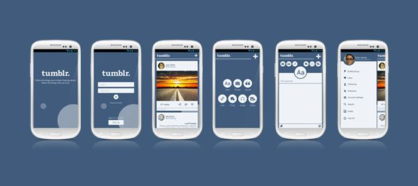 Tumblr. android app re-design by omar ayman, via Behance