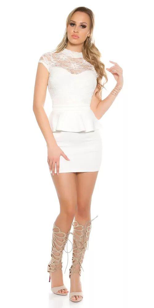 Dámské mini šaty s krajkou