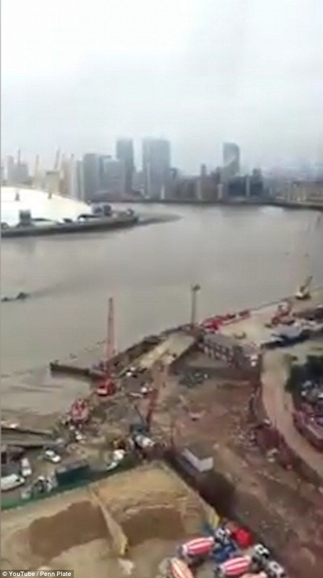 It disappeared out of site as Penn Plate made his way across the Emirates Air Line - leavi...