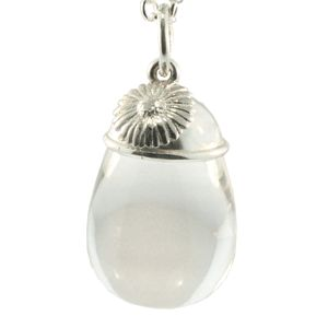 Sterling Silver & Clear Quartz Pendant, NZD$295.00. Handmade by Peter Cameron at Cameron Jewellery