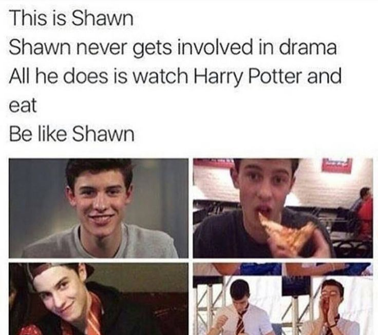 please be like shawn everyone.