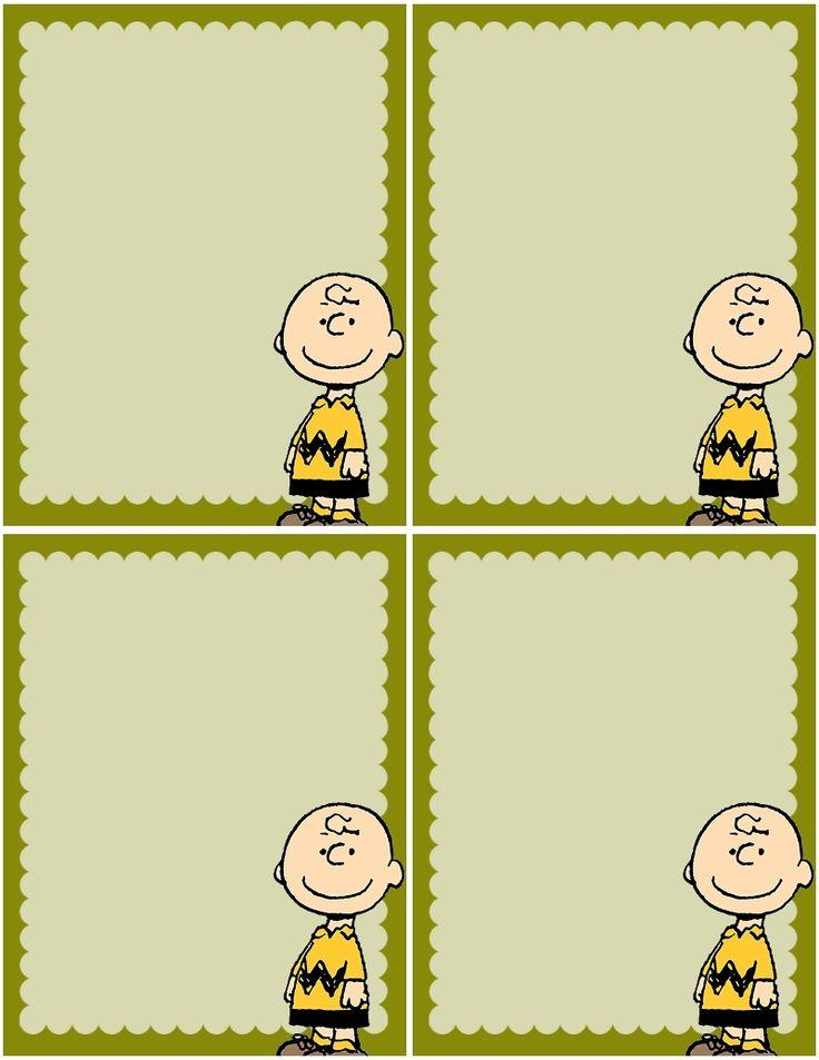 440 best Charlie Brown & Friends Printables images on Pinterest ...