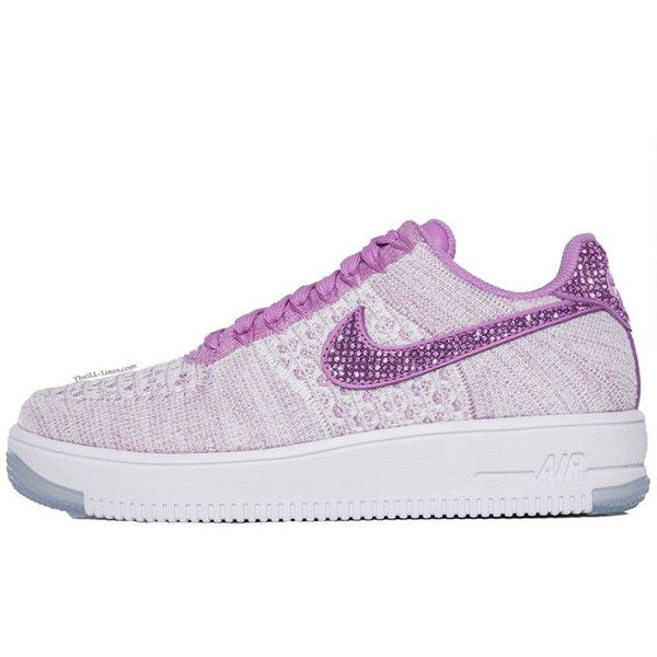 193643a205cc1 ... reduced nike air force 1 flyknit low 300 liked on polyvore featuring  shoes e201c 2fbca