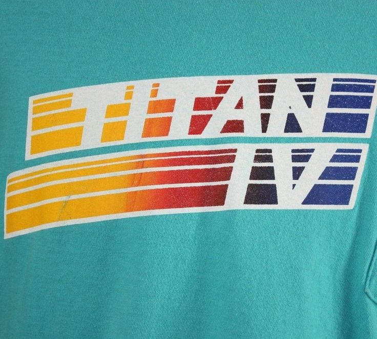 VTG XL Titan IV Rocket Martin Marietta Blue T Shirt USAF Space Program Booster #Hanes #GraphicTee