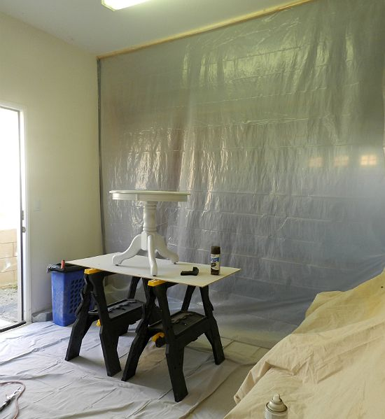 how to make a spray booth in your garage