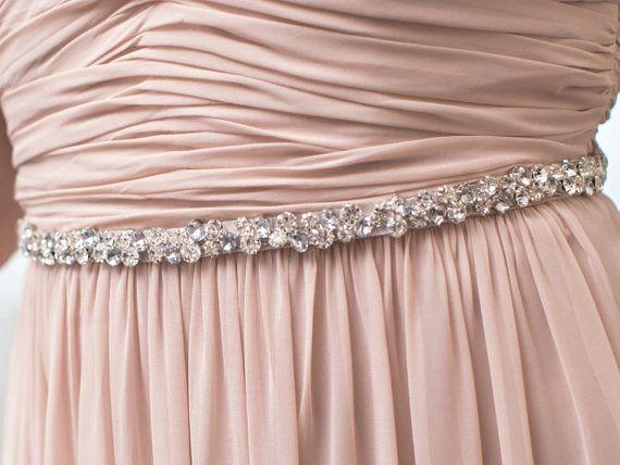 Bridesmaid #Belt - Rhinestone Sash / Crystal Beaded Bridal Belt / Wedding Crystal Belt (Starbright Belt)