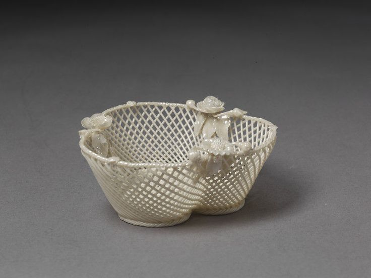Basket | Belleek pottery | V&A Search the Collections