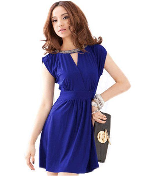 free shipping  summer elegant sexy gorgeous racerback V-neck rhinestones slender waist one-piece dress women dress