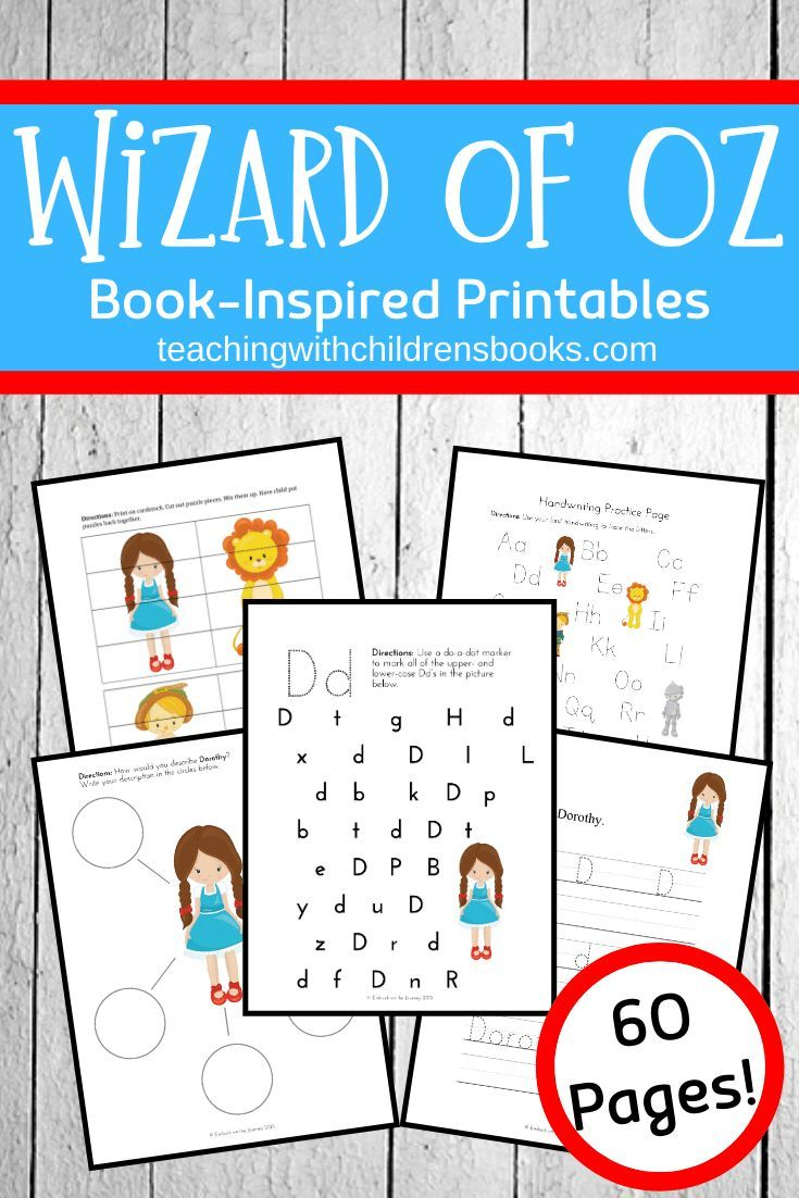 Free Printable Wizard Of Oz Activities For K 3 Fun Activities For Toddlers Preschool Printables Book Activities