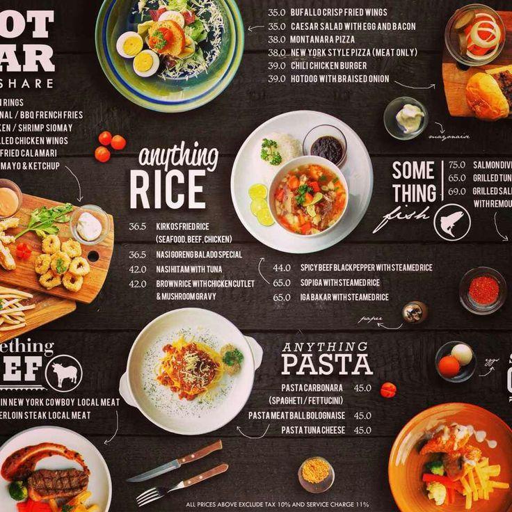 Cafe menu design ideas