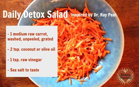Carrot Detox Salad // Raw carrots contain unique fibers that bind toxins, particularly excess estrogen. A carrot a day keeps PMS away!