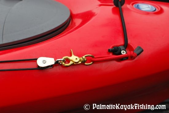 Palmetto Kayak Fishing: DIY No Drill Kayak Anchor Trolley Connection Points