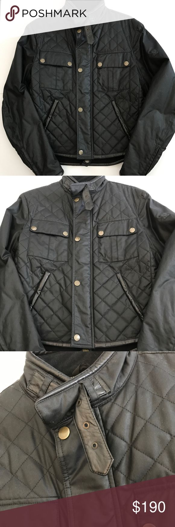 BELSTAFF *Gold Label*  Men's Waxed Cotton Moto BELSTAFF - Gold Label - Moto Jacket Black, Waxed Cotton Moto Jacket, Double Pockets, Fabulous Lining.  Made in Italy. Size Medium.  This would be a great Christmas gift.  Worn ONCE! Near perfect condition. Original Retail $695 Belstaff Jackets & Coats