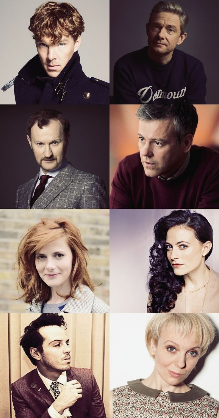 Sherlock cast  Bennedict Cumberbatch as Sherlock Holmes Martin Freeman as John Watson Mark Gatiss as Mycroft Holmes Rupert Graves as Greg Lestrade Louise Brealey as Molly Hooper Lara Pulver as Irène Adler Andrew Scott as Jim Moriarty Amanda Abbington as Mary Morstan By Camy Malfoy
