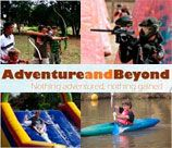 Adventure n Beyond in Krugersdorp presents various parties and events using a variety of adventure games and activities such as Rock Climbing, Paintball, Abseiling and more.