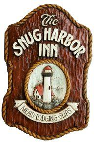 Snug Harbor Inn Nautical  Pub sign  item 304