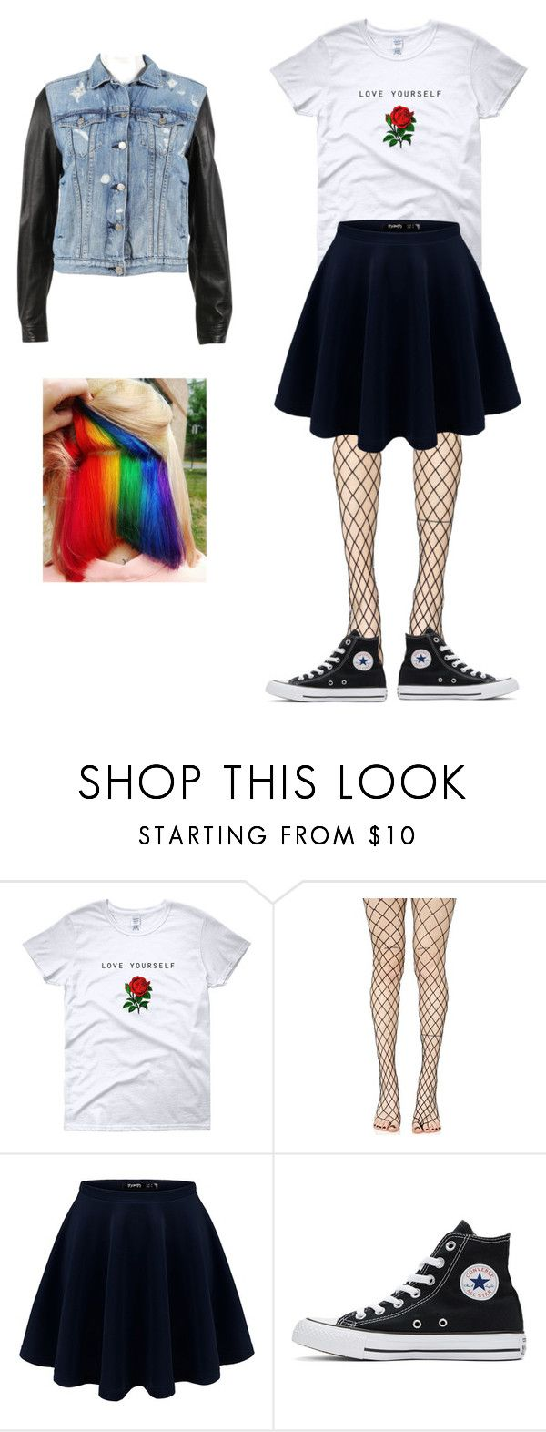 """""""me"""" by heeeyyaaa on Polyvore featuring Leg Avenue, Converse and rag & bone"""