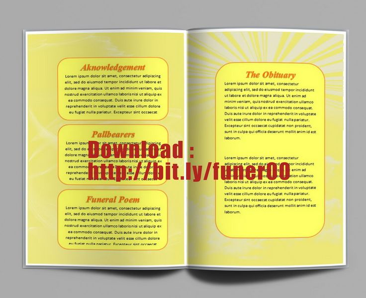79 best Funeral Program Templates for MS Word to Download images - microsoft word