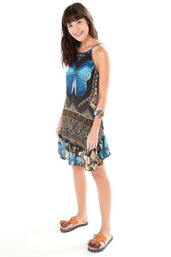 9e7f7632b vestido curto segredo   FARM RIO VERAO 19 em 2019   Summer dresses ...