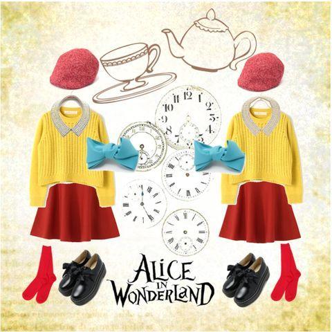 コーディネート 画像 2517624 ディズニー DisneyBound 不思議の国のアリス トゥイードルダムとトゥイードルディー ふしぎの国のアリス トゥイードルダム トゥイードルディー ディズニーバウンド 双子コーデ